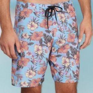 Brooklyn Cloths Hawaiian Print Board Shorts 32